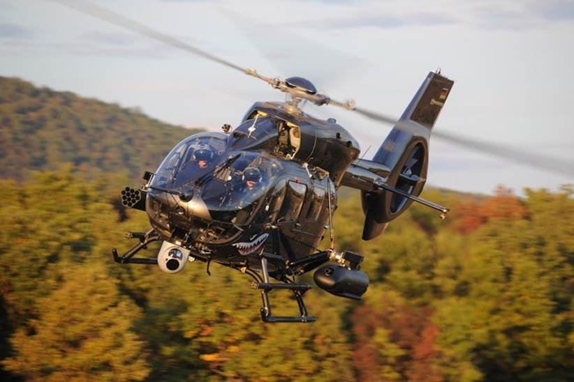 "FZ | Thales Belgium SA – Rockets 70mm (2.75"") : Airbus Helicopters completes first firing campaign with HForce-equipped H145M"