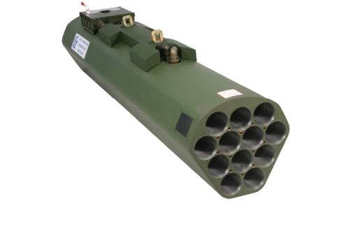 "FZ | Forges de Zeebrugge  – Rocket system 70mm (2.75"") : 12-tube lightweight composite rocket launchers for rotary wings : FZ231 and FZ219"